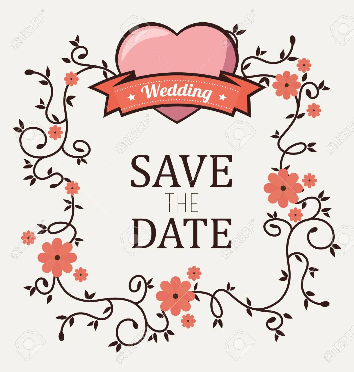 Wedding Invitation Design, Vector Illustration Eps10 Graphic Royalty ...