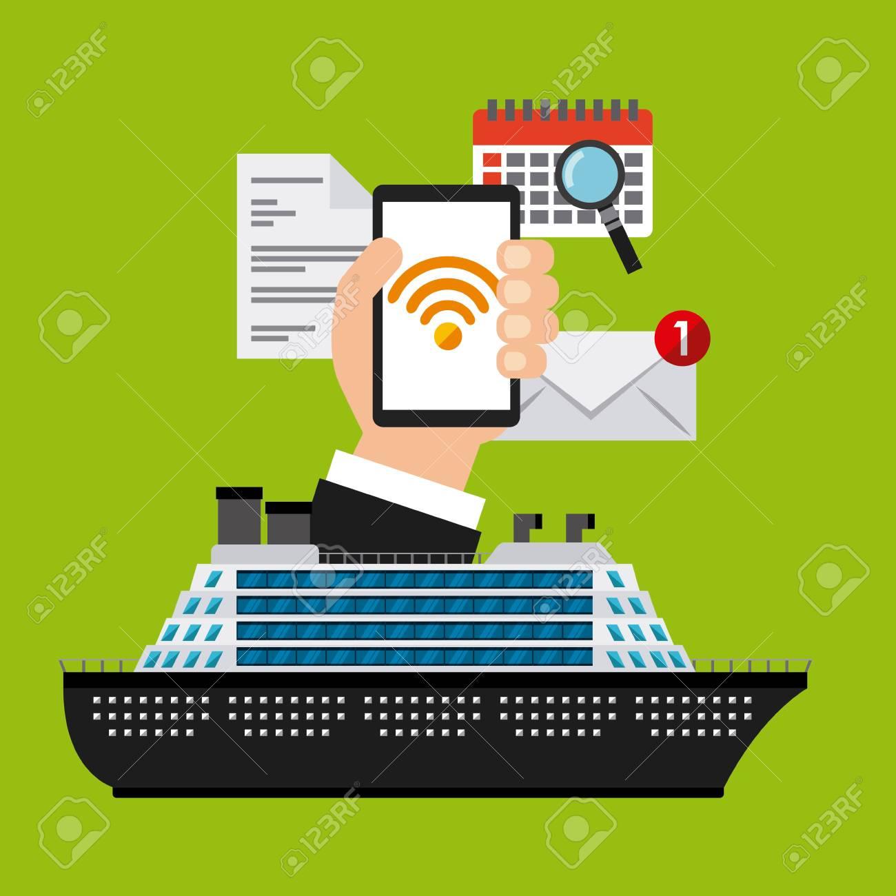 free wifi on board design, vector illustration eps10 graphic