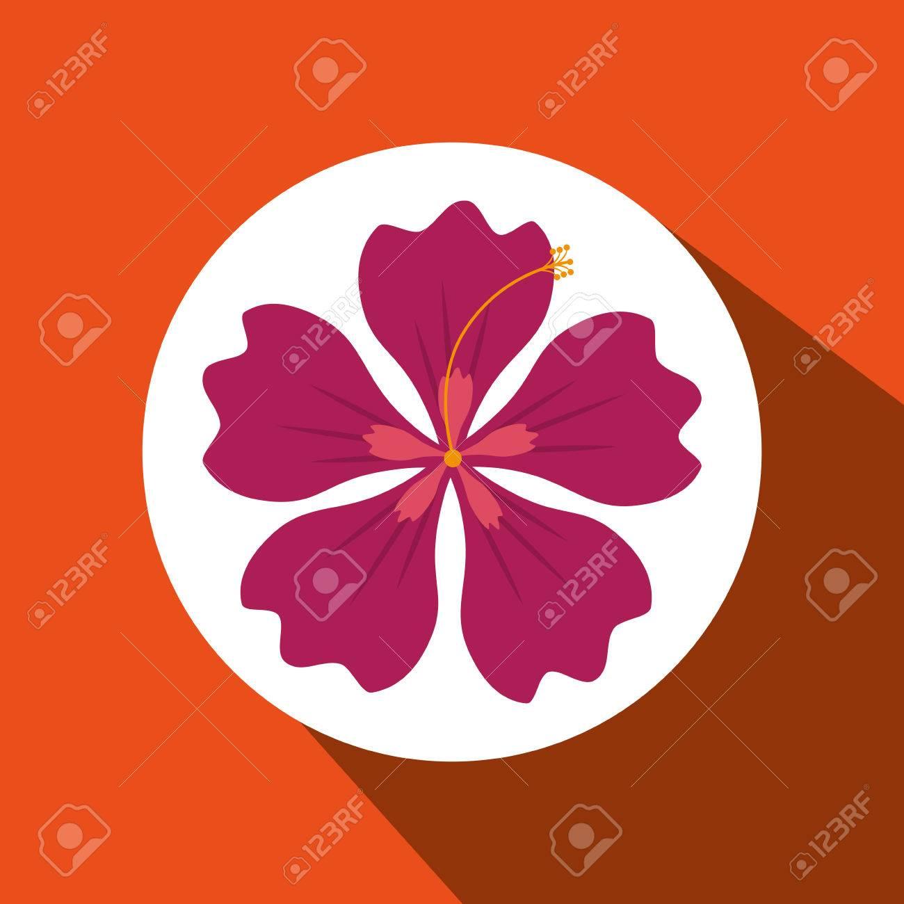 Diseno De Flores Hawaiano Ejemplo Grafico Del Vector Eps10