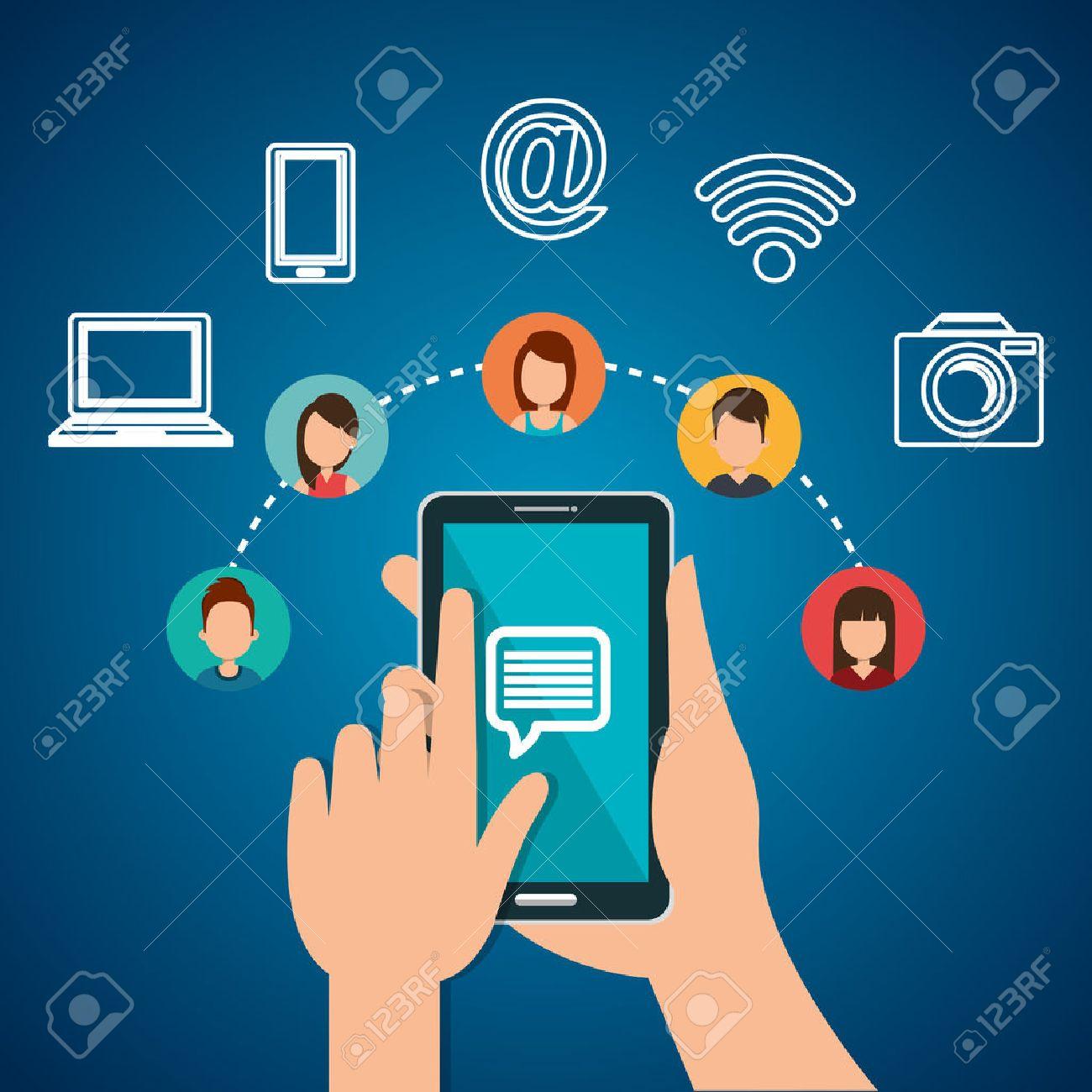 internet communication design, vector illustration eps10 graphic - 58766928