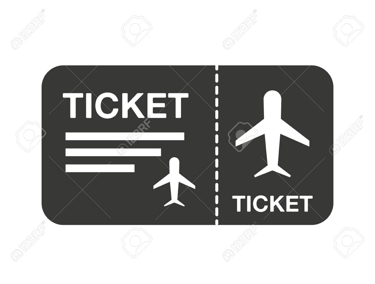 Flight Ticket Isolated Icon Design Vector Illustration Graphic Stock