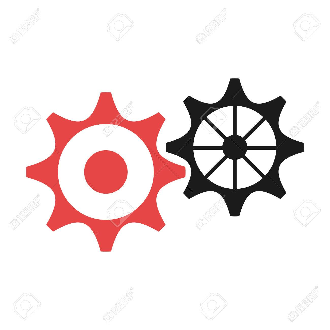 Black And Red Settings Icon Over Isolated Background Vector Royalty Free Cliparts Vectors And Stock Illustration Image 59262832