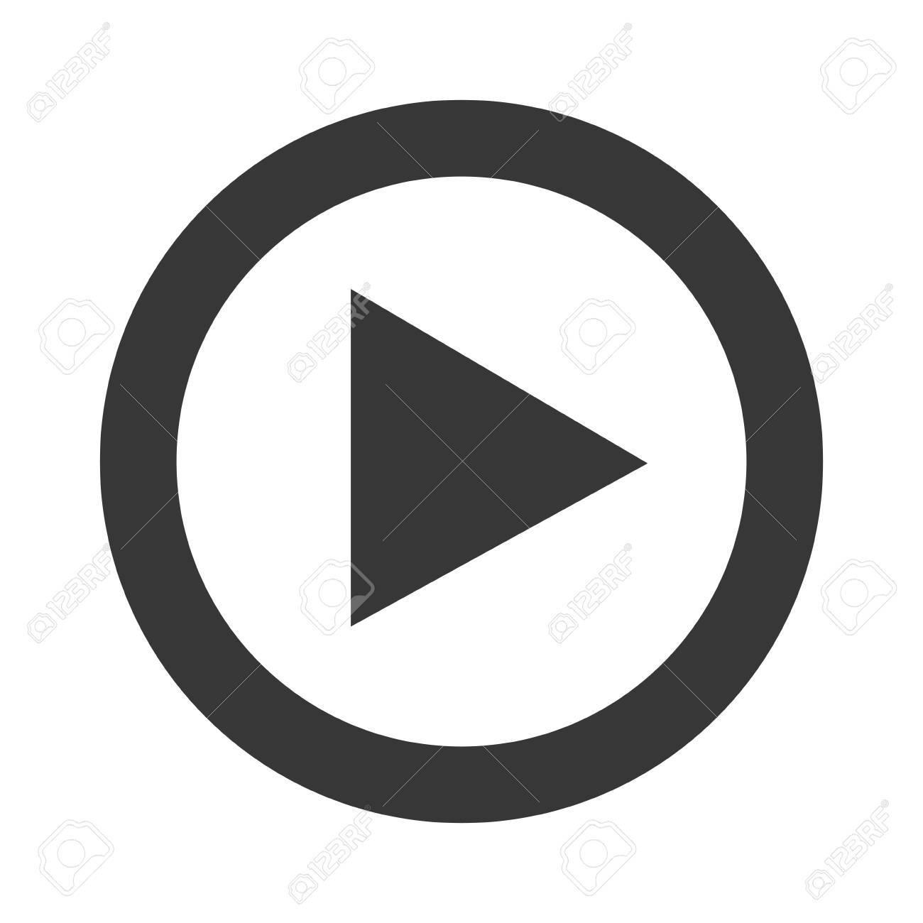 71fa8450e5 Foto de archivo - Reproducir vídeo icono inwhite y gris, la ilustración  vectorial.