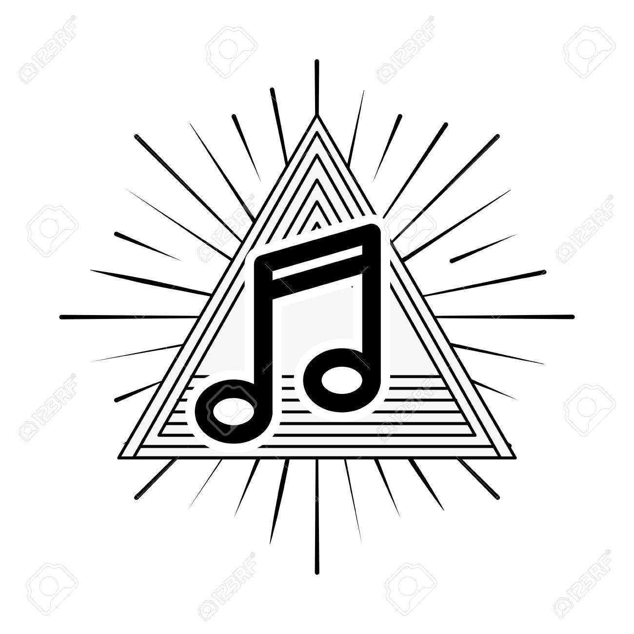Concept Musique Et Son Représenté Par L Icône De Note De Musique