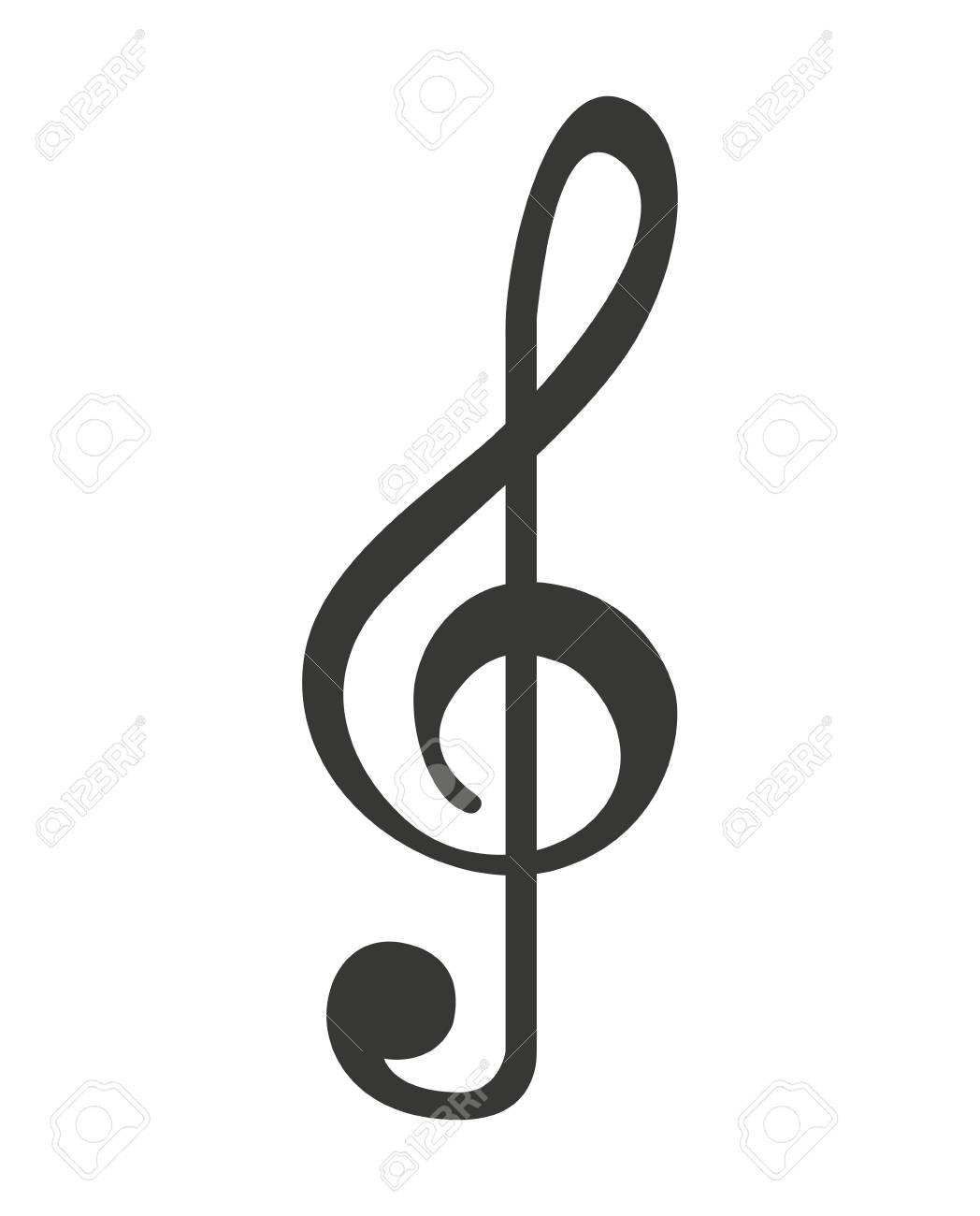 Note De Musique Isole Dessin Icone Illustration Vectorielle