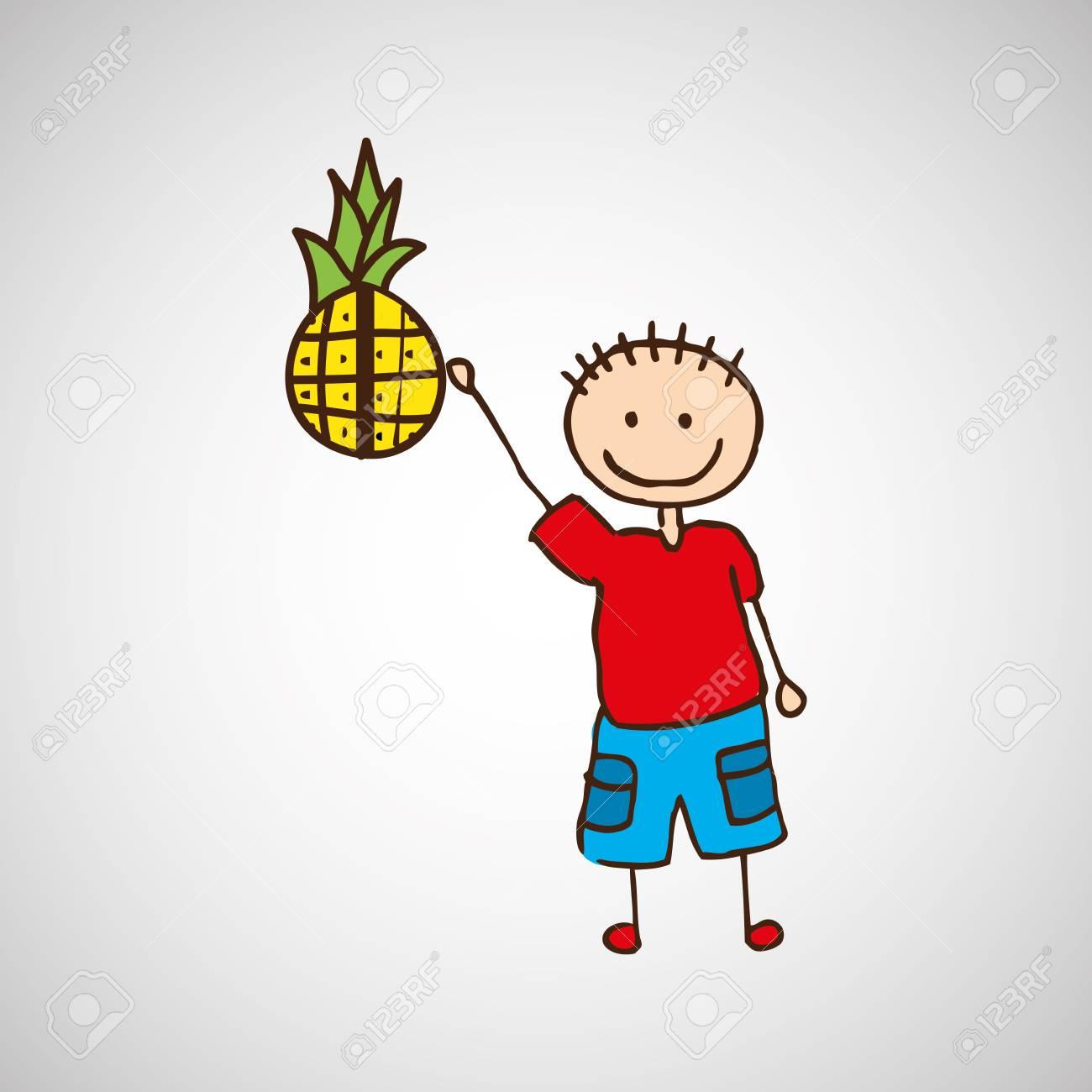 Frutas Natureza Alimentar Saudavel Dos Desenhos Animados Com