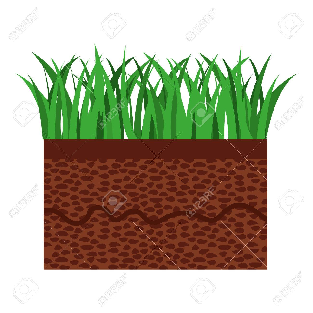 grass and terrain isolated icon design vector illustration rh 123rf com free vector grass silhouette free vector grass download