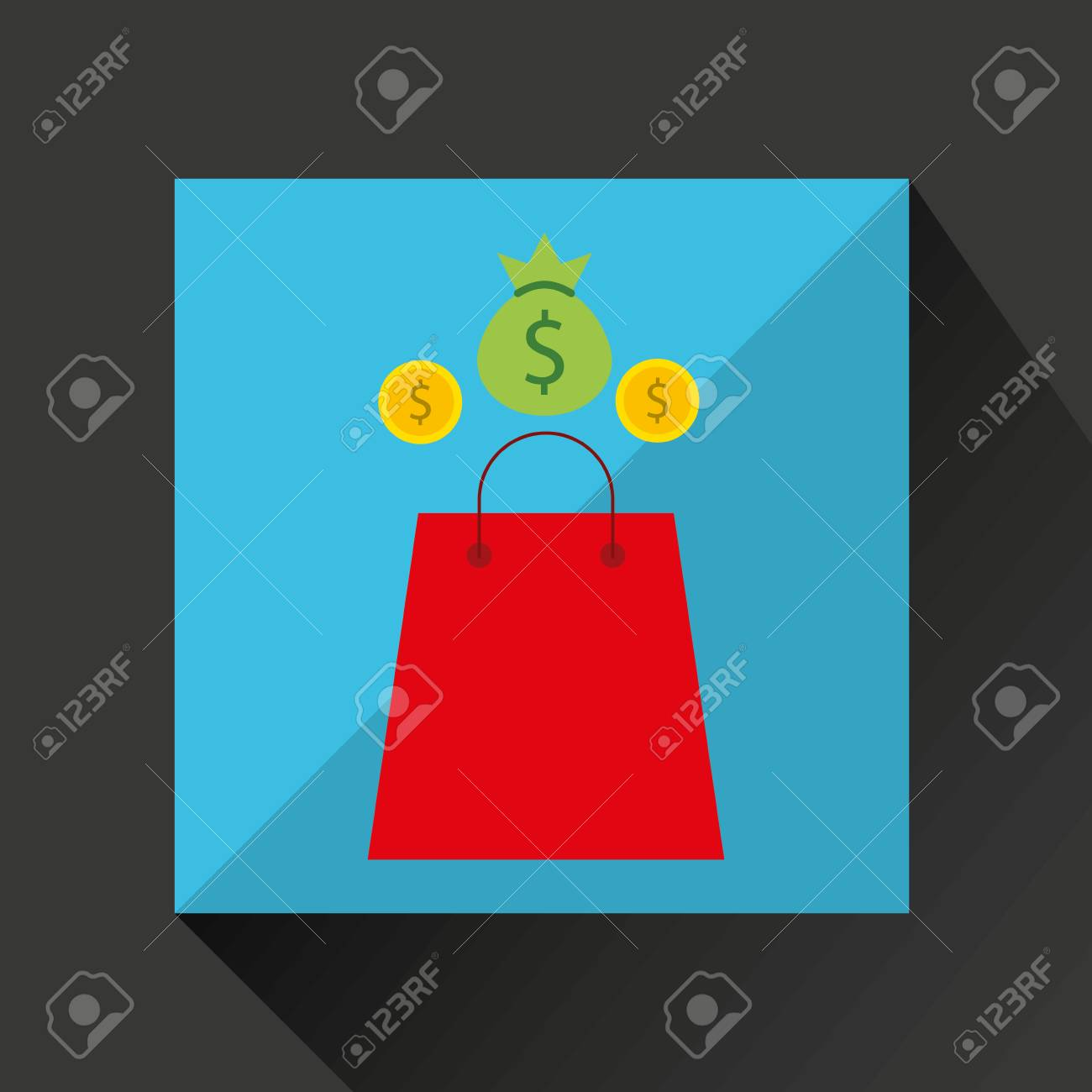 trading stuff concept icon, vector illustration eps10