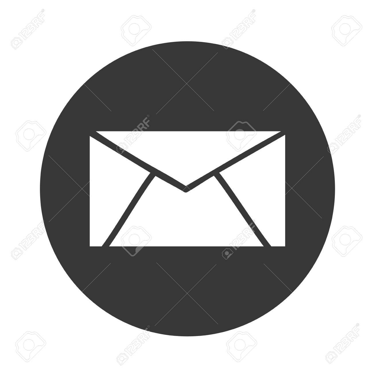 Email Symbol Vector Message Norte Vector Illustration Royalty Free
