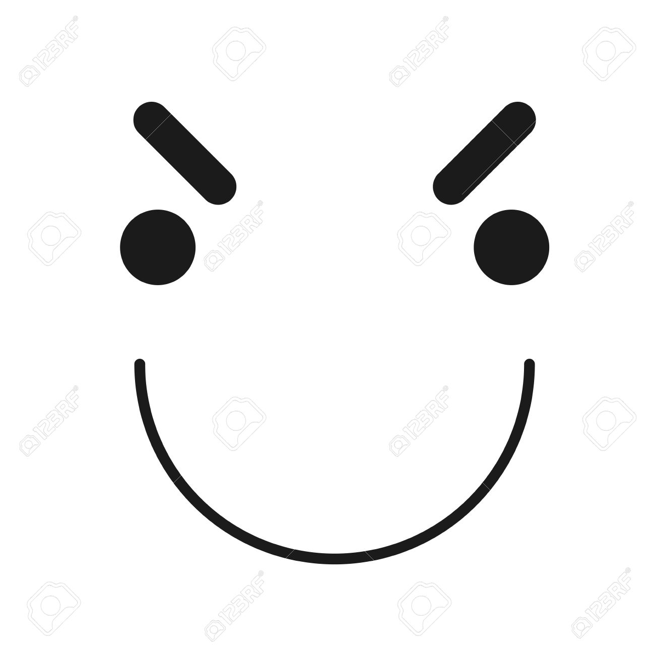Cartoon Face Icon With An Evil Smile Royalty Free Cliparts Vectors And Stock Illustration Image 60273133 Download the perfect evil smile pictures. cartoon face icon with an evil smile
