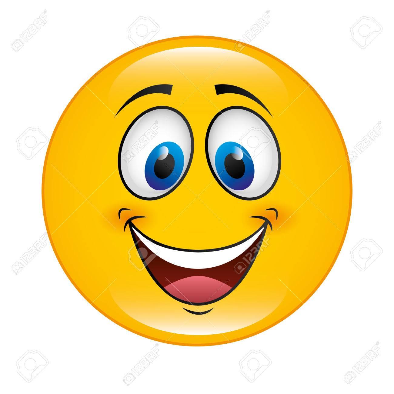 happy cartoon face icon vector illustation character royalty free rh 123rf com happy cartoon face images happy cartoon face vector free