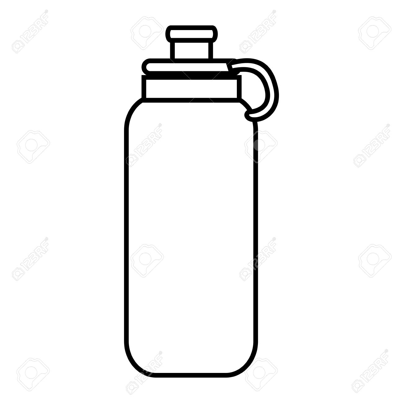 water bottle object isolated black and white flat icon design rh 123rf com water bottle clipart transparent water bottle clipart png