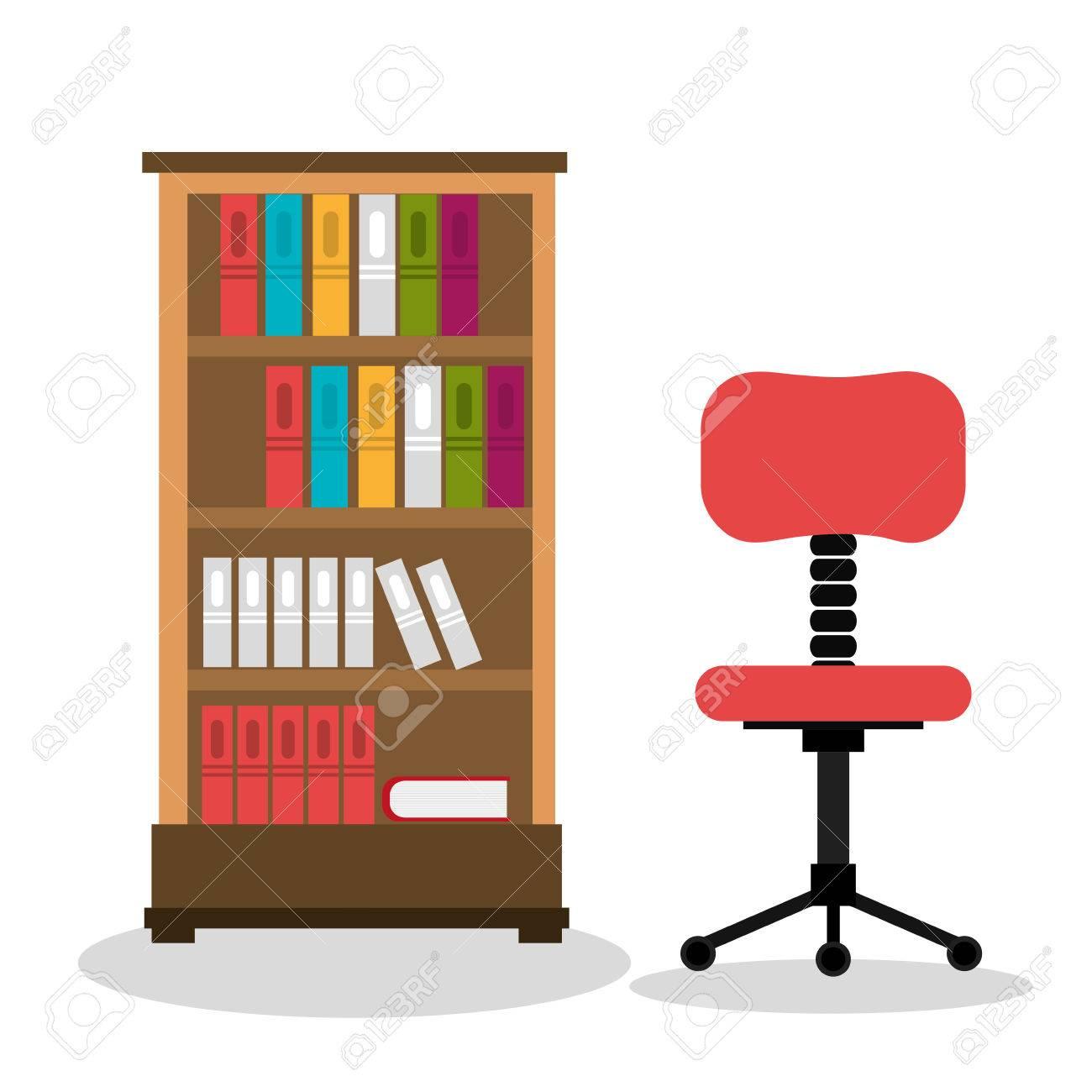 office boekenkast gesoleerd pictogram ontwerp vector illustratie grafische stockfoto 59900783