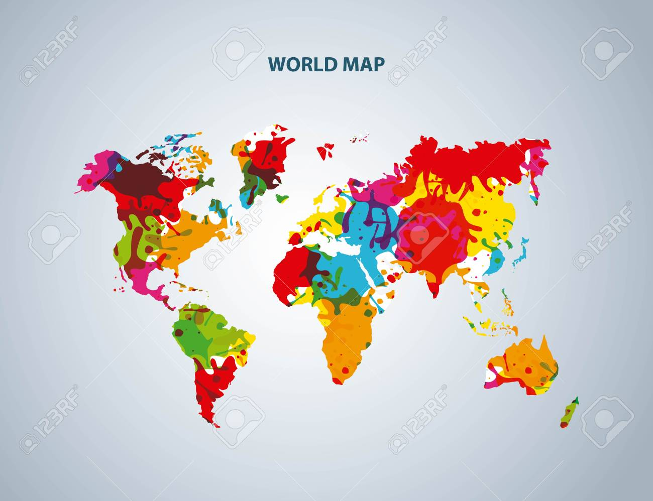 World And Map Concept Represented By Earth Icon. Colorfull And