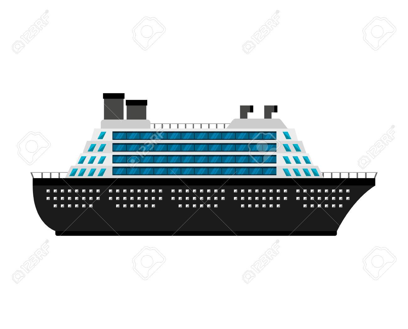 ship cruise boat icon vector illustration design