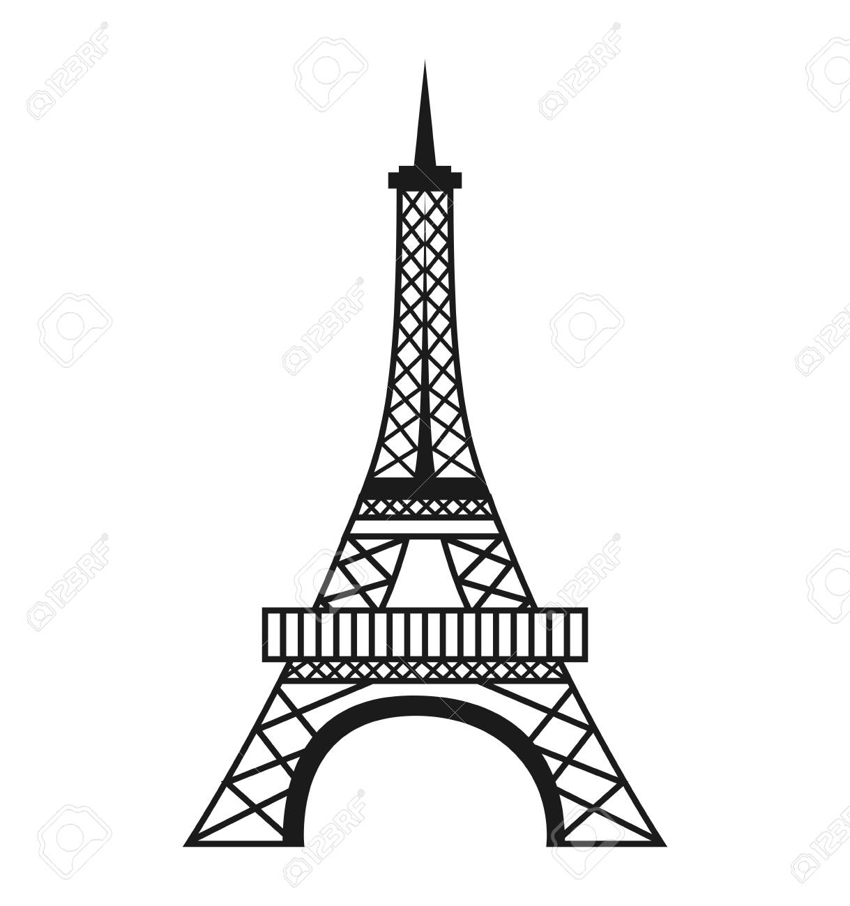tower eiffel structure icon vector illustration design royalty free cliparts vectors and stock illustration image 60535461 tower eiffel structure icon vector illustration design