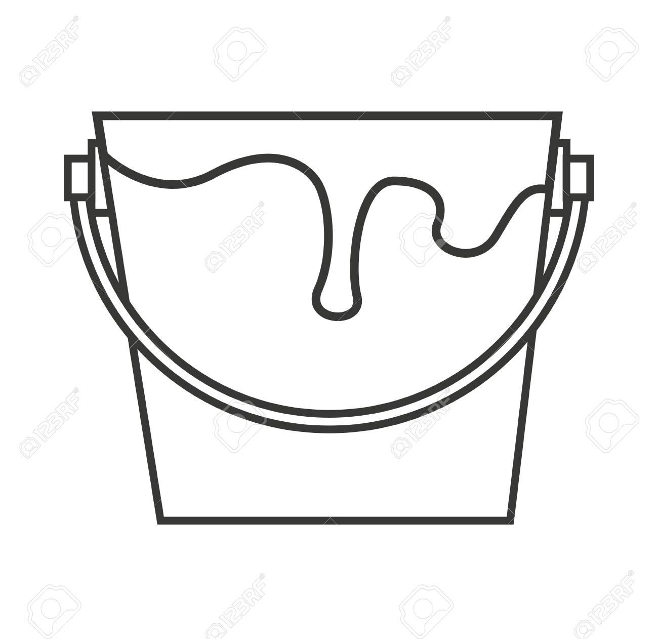 Pot De Peinture Outil De Conception Icône Illustration Vectorielle