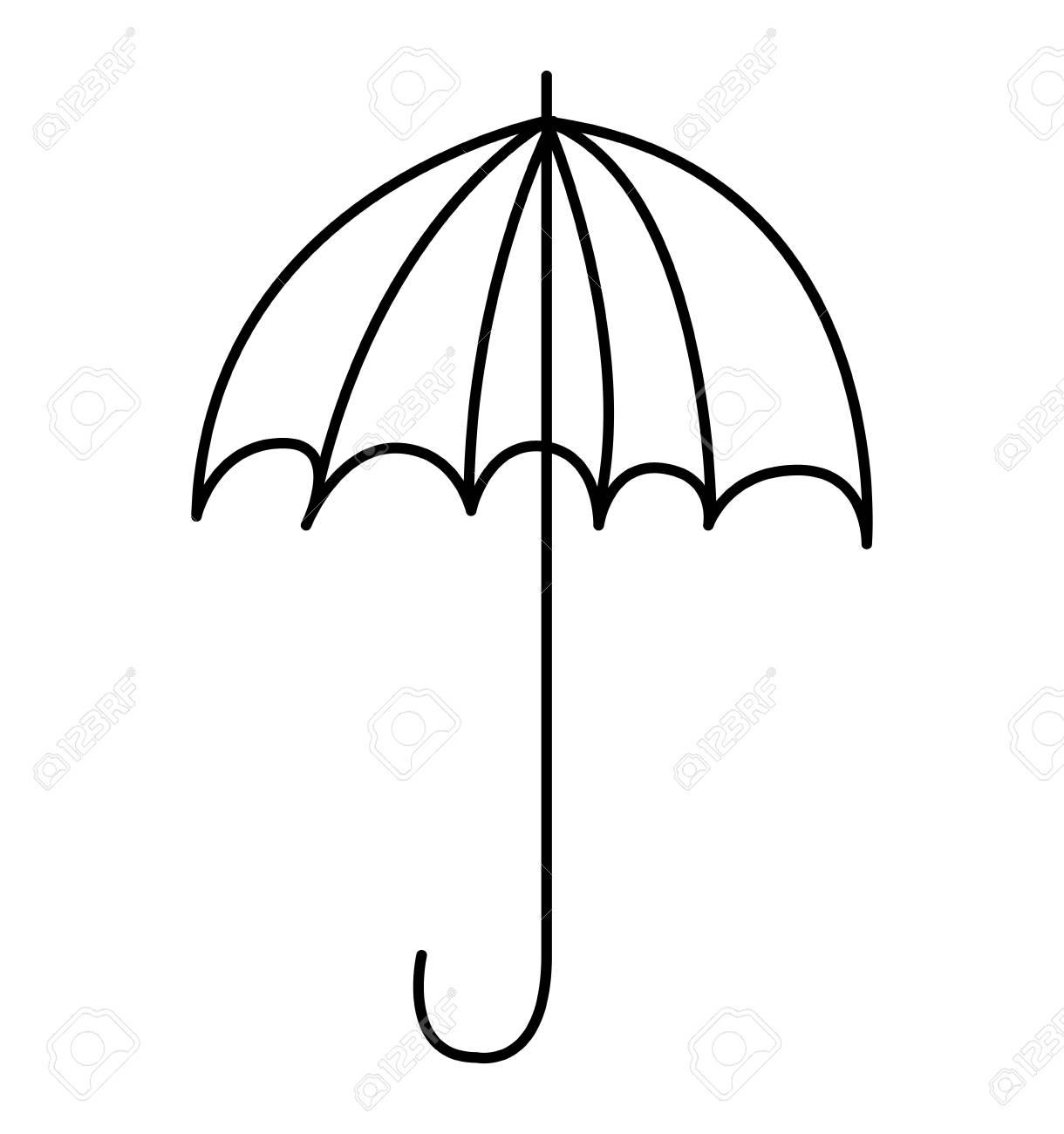 Banque dimages parapluie dessin icône mignonne illustration vectorielle conception