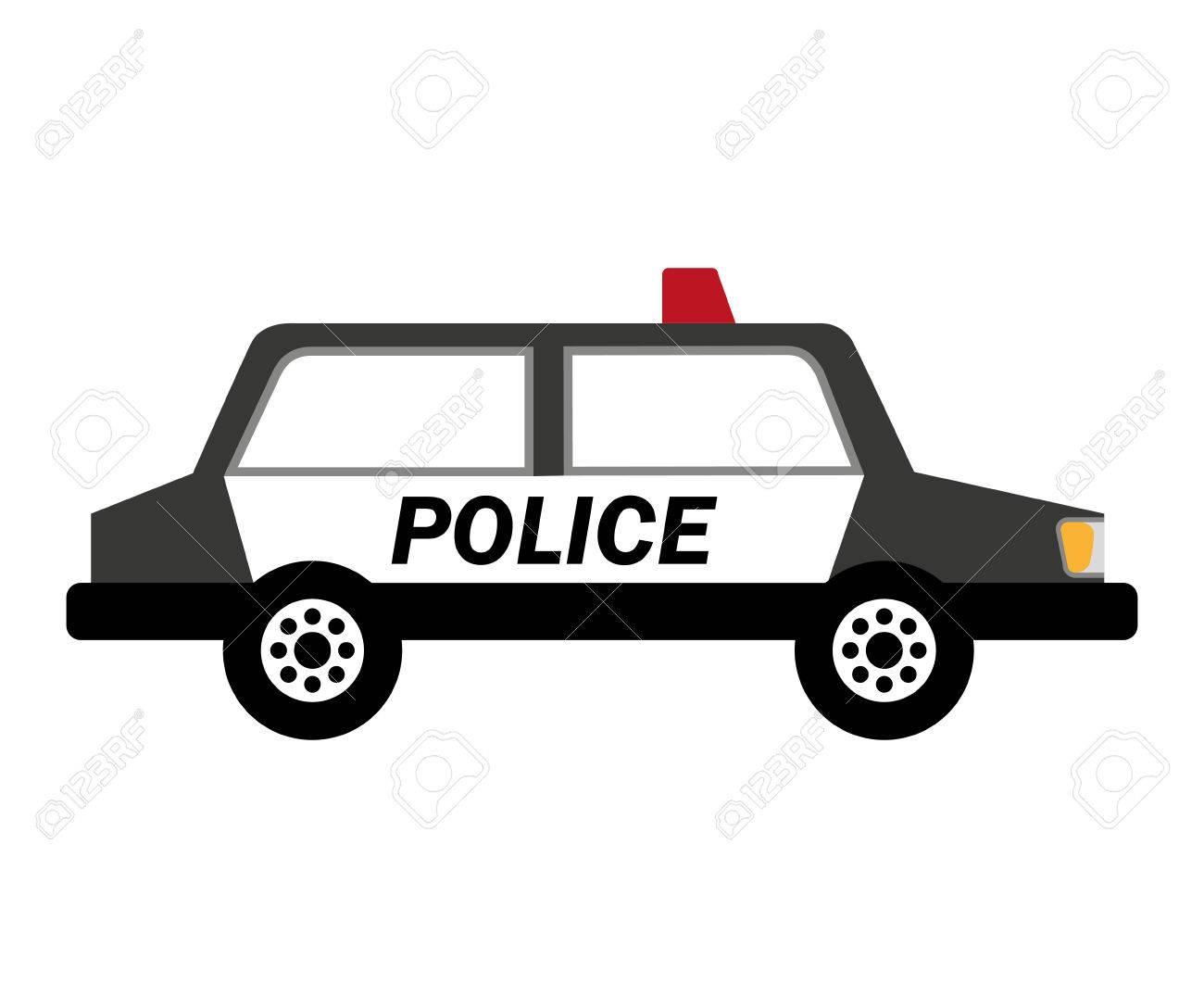 警察車のパトロールのアイコン ベクトル イラスト デザインのイラスト