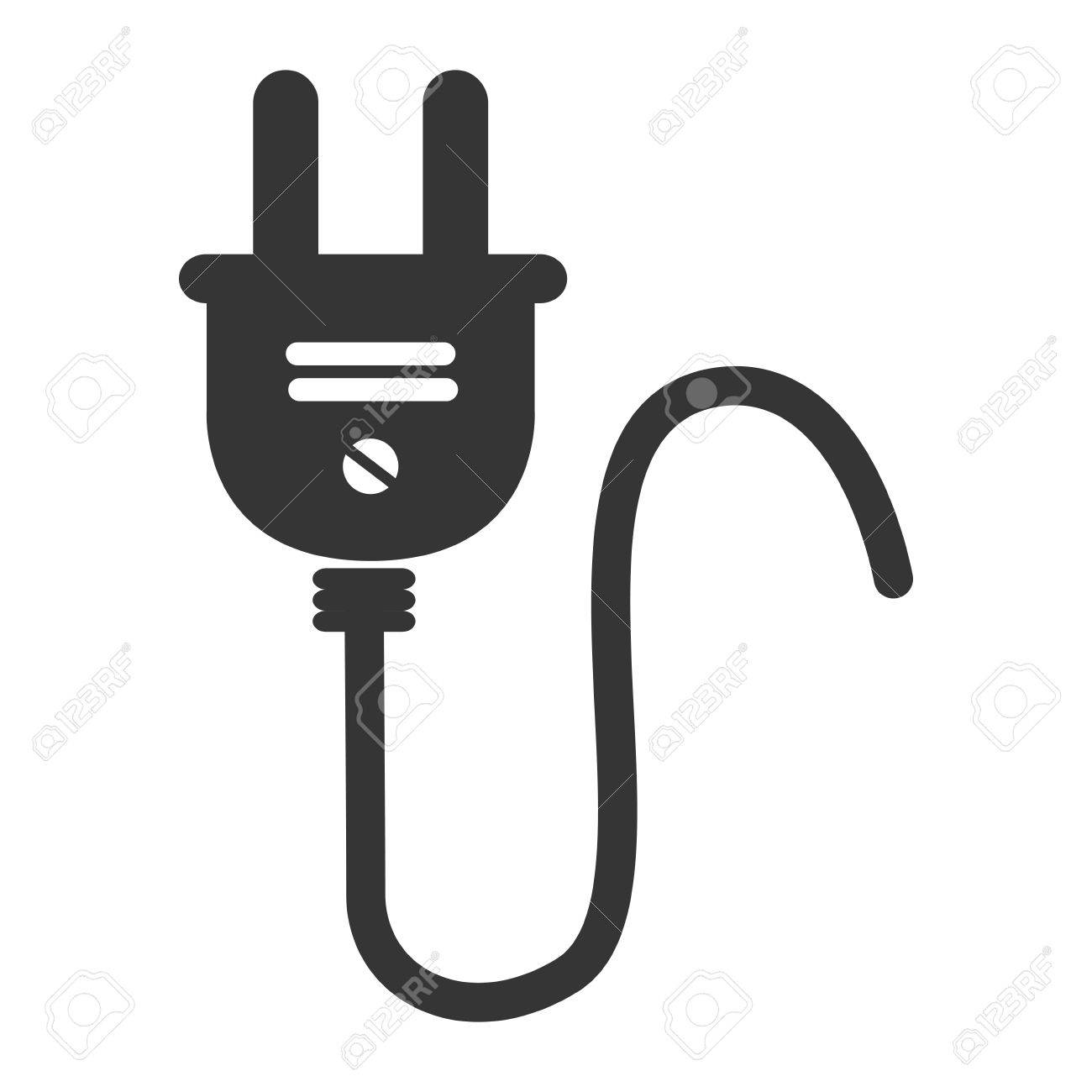 Wire Plug Electric , Isolated Flat Icon Design Royalty Free Cliparts ...