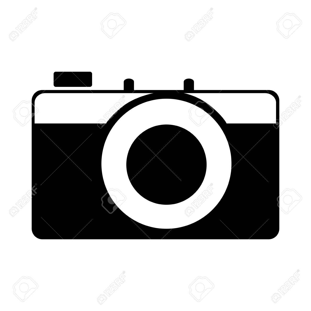 Vintage Photographic Camera Isolated Flat Icon Cartoon Royalty