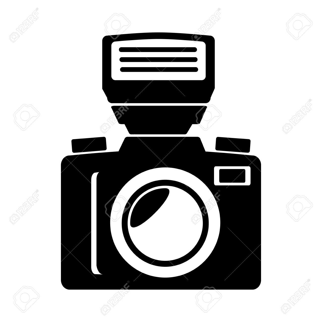 Vintage Photographic Camera Isolated Flat Icon Cartoon Royalty Free