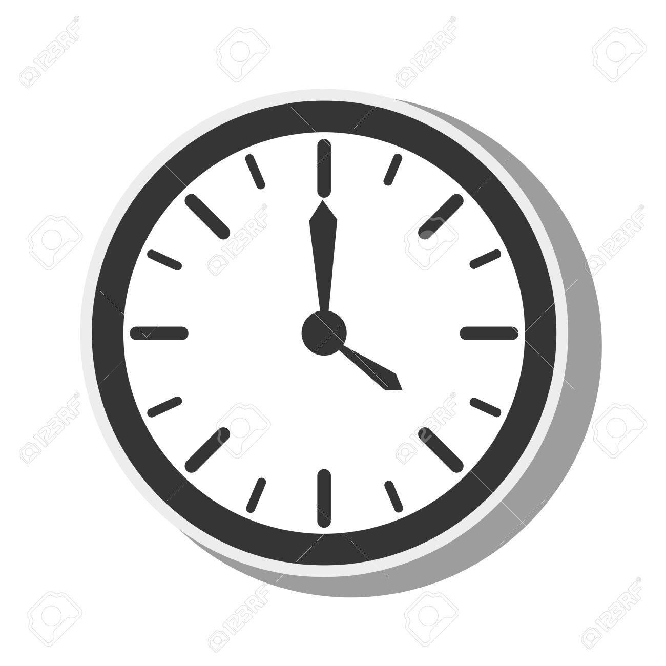 watch clock time timer element dials hands instrument vector