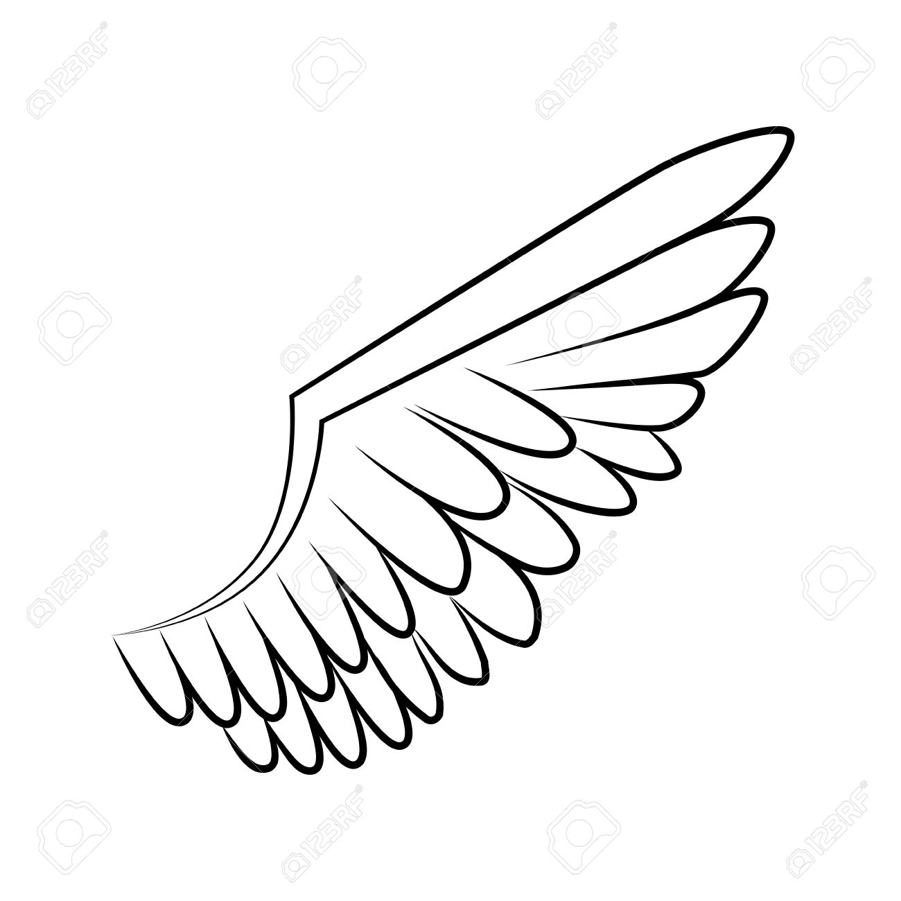 Wing Angel Bird Heaven Fly Eagle Nature Freedom Sign Icon Vector