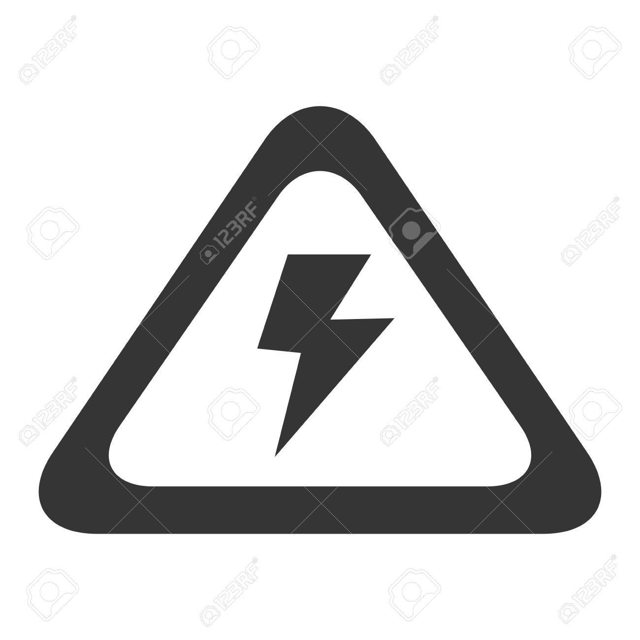 High Voltage Sign Electricity Volt Caution Power Vector Graphic ...