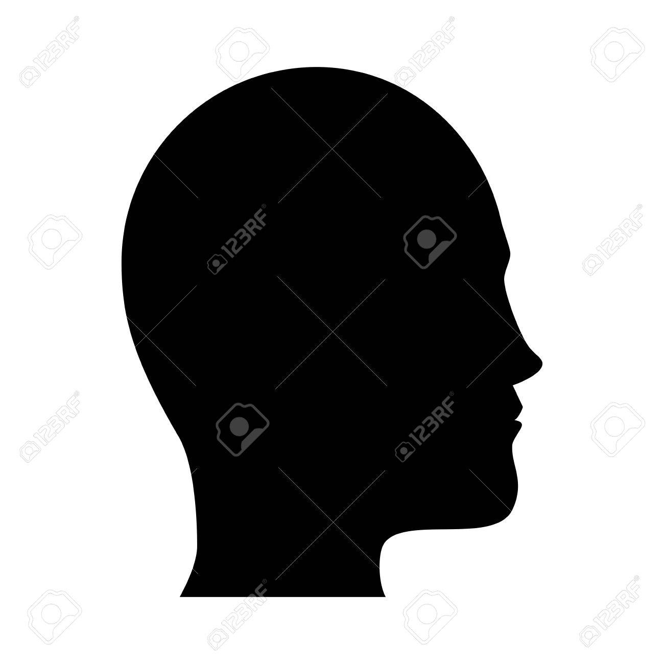 person side human man adult profile user black silhouette vector graphic isolated and flat illustration - 61150131