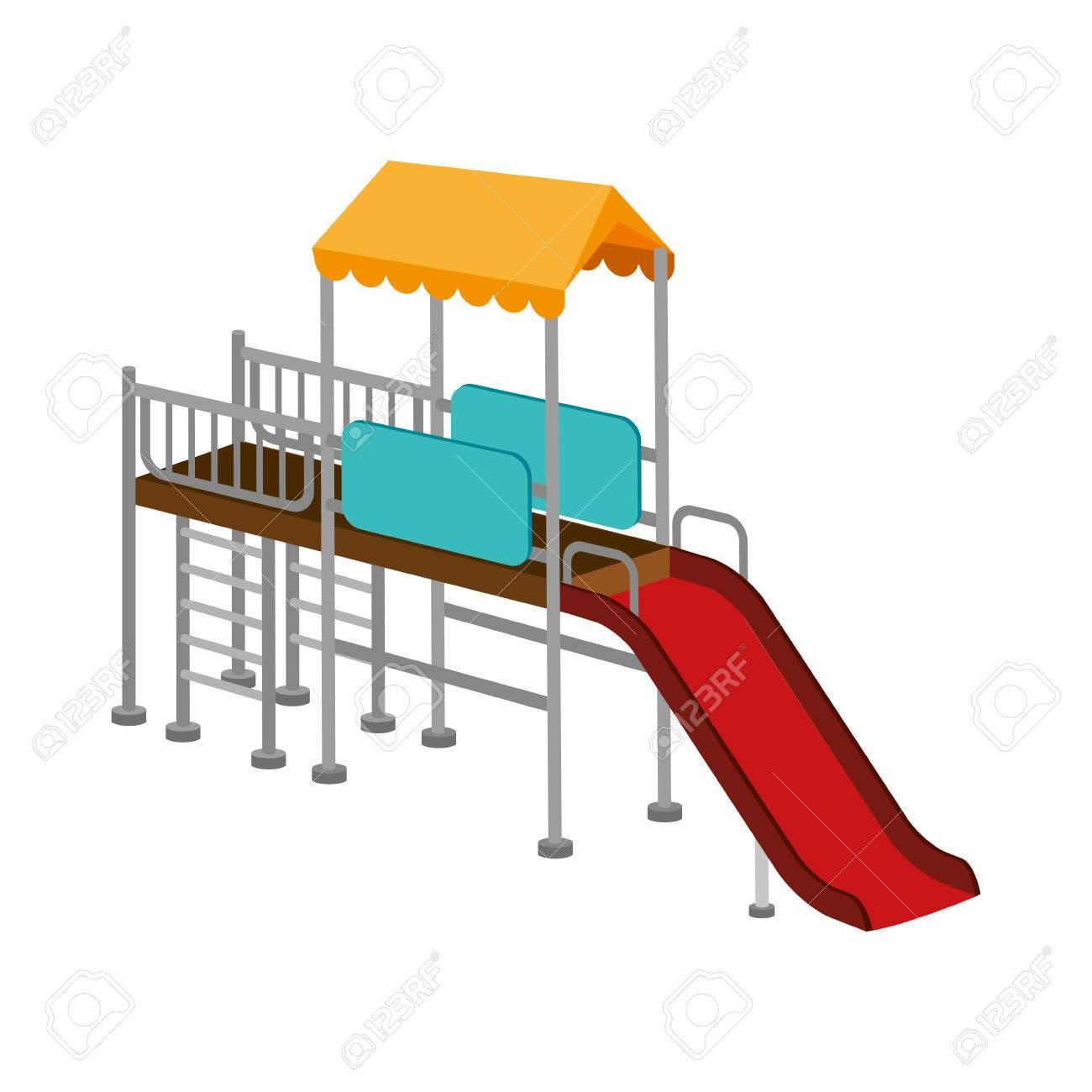 Parque Infantil Nino Ilustracion Vectorial Actividad De Recreacion