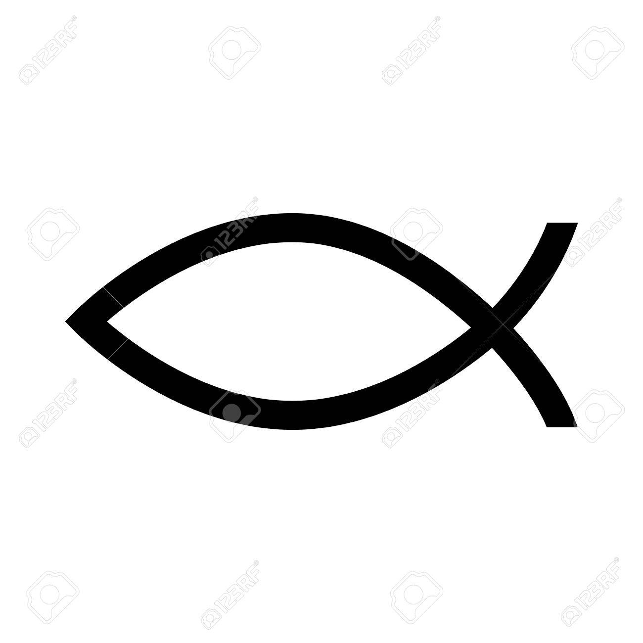 fish christian religious christ symbolic biblical silhouette rh 123rf com  christian fish symbol vector free