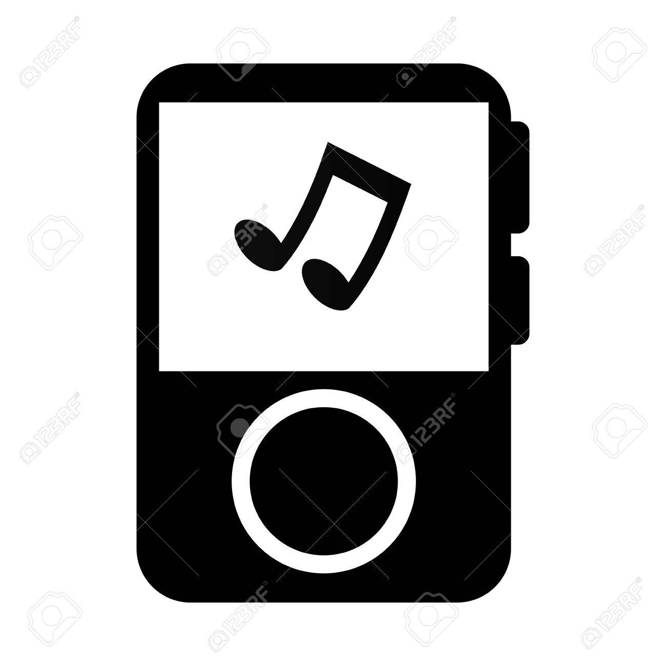 mp3 player music song note musical portable audio track vector