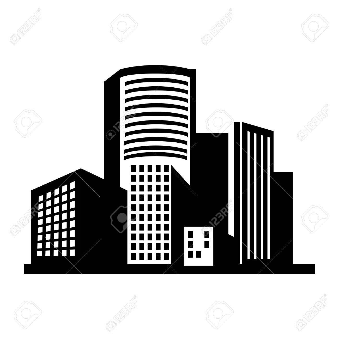 building structure silhouette window tower city dowtown corporate rh 123rf com building vector data uk building vector logo