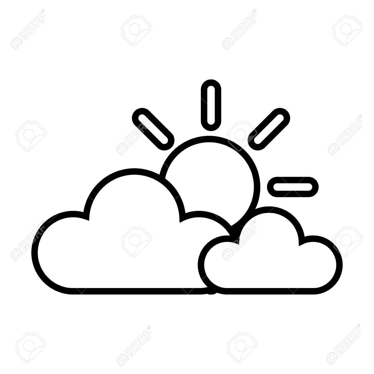 sunny cloud sun weather sky clear sunrise vector illustration rh 123rf com