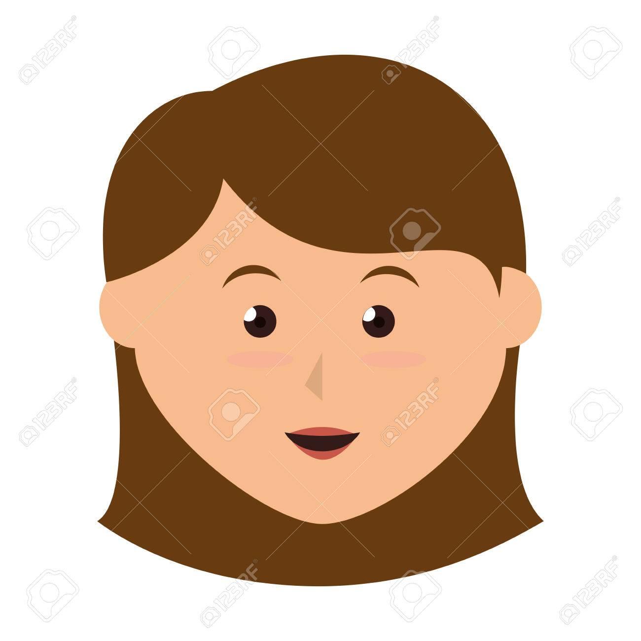 女の子かわいい漫画女性子供子供笑顔ベクトル イラスト分離 ロイヤリティ