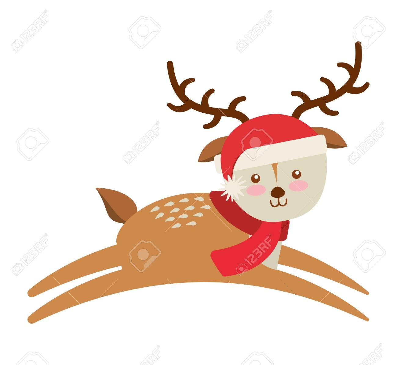 クリスマスの服とかわいい動物ベクトル イラスト デザイン ロイヤリティ