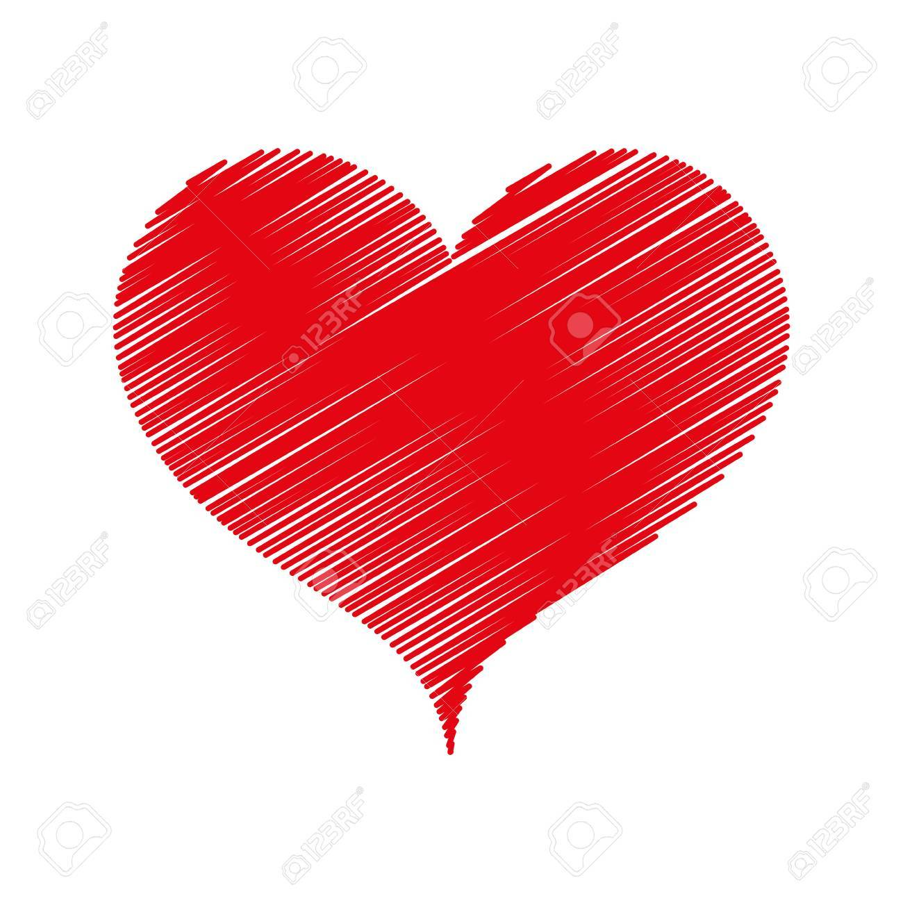 Corazón Amor Romance Pasión Amour Rojo Ilustración Vectorial Boceto