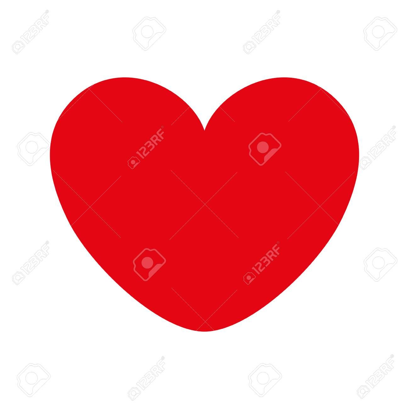 Corazón Amor Romance Pasión Amour Ilustración Vectorial De Color Rojo