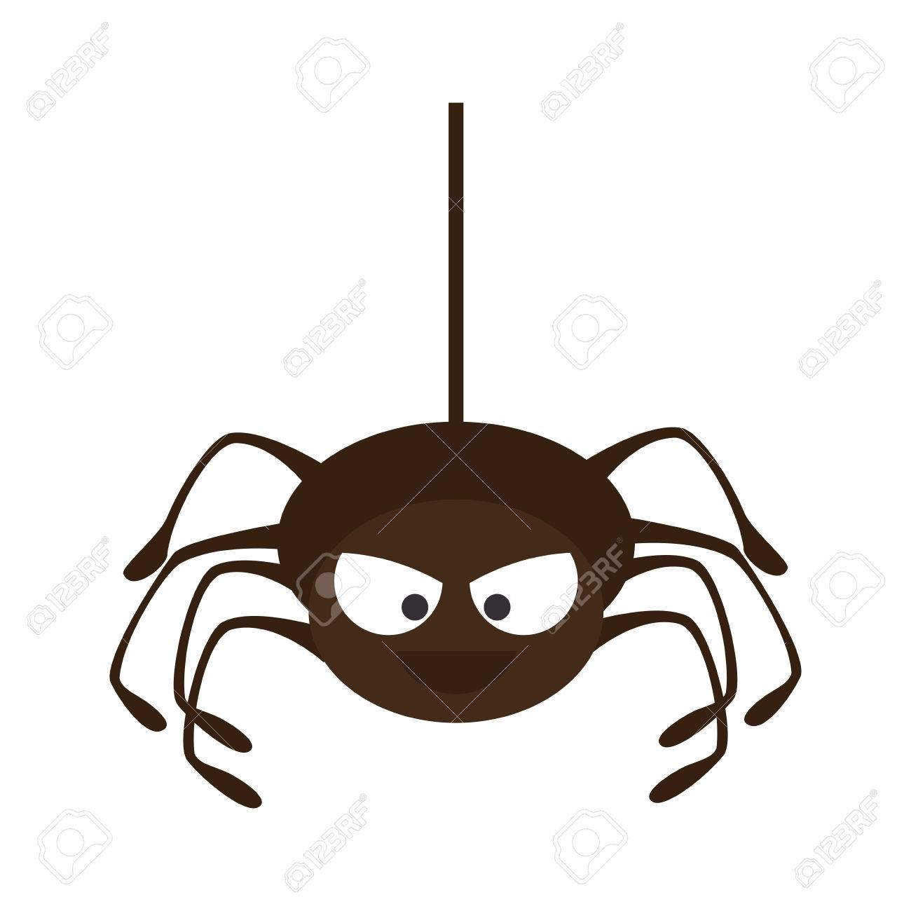 Spyder En Animales Aracnidos Arana Halloween Ilustracion De Dibujos - Dibujos-araas-halloween