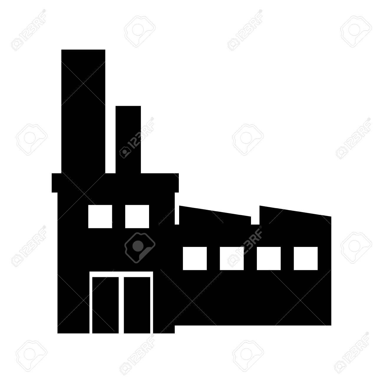 factory building and industry plant equipment silhouette vector rh 123rf com free vector building silhouette building silhouette vector png