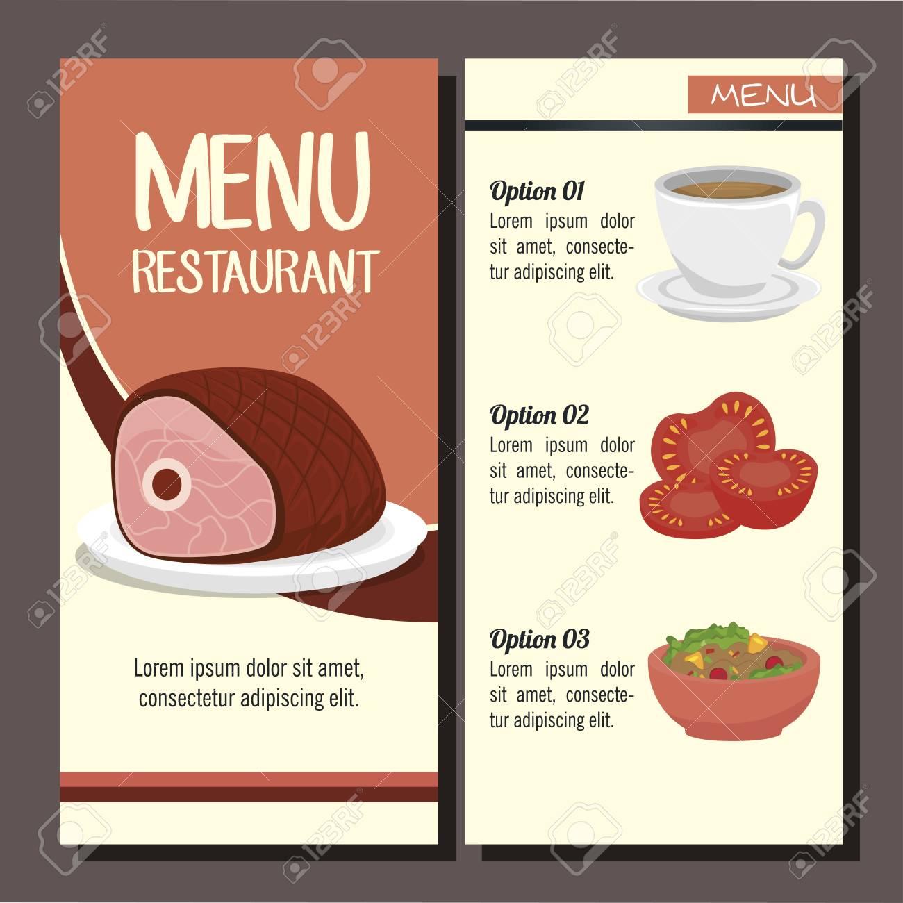 menú del restaurante cubierta icono ejemplo gráfico del vector