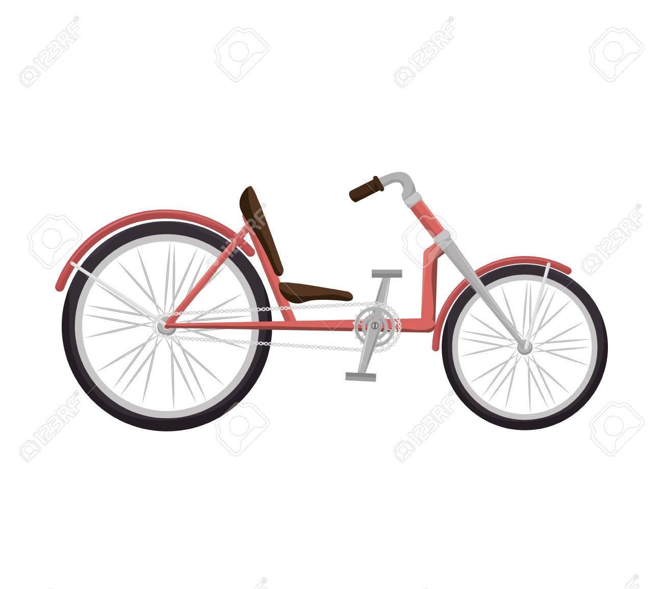 Bicicletta Reclinata Bici Veicolo Trasporto Sport Attività Illustrazione Vettoriale