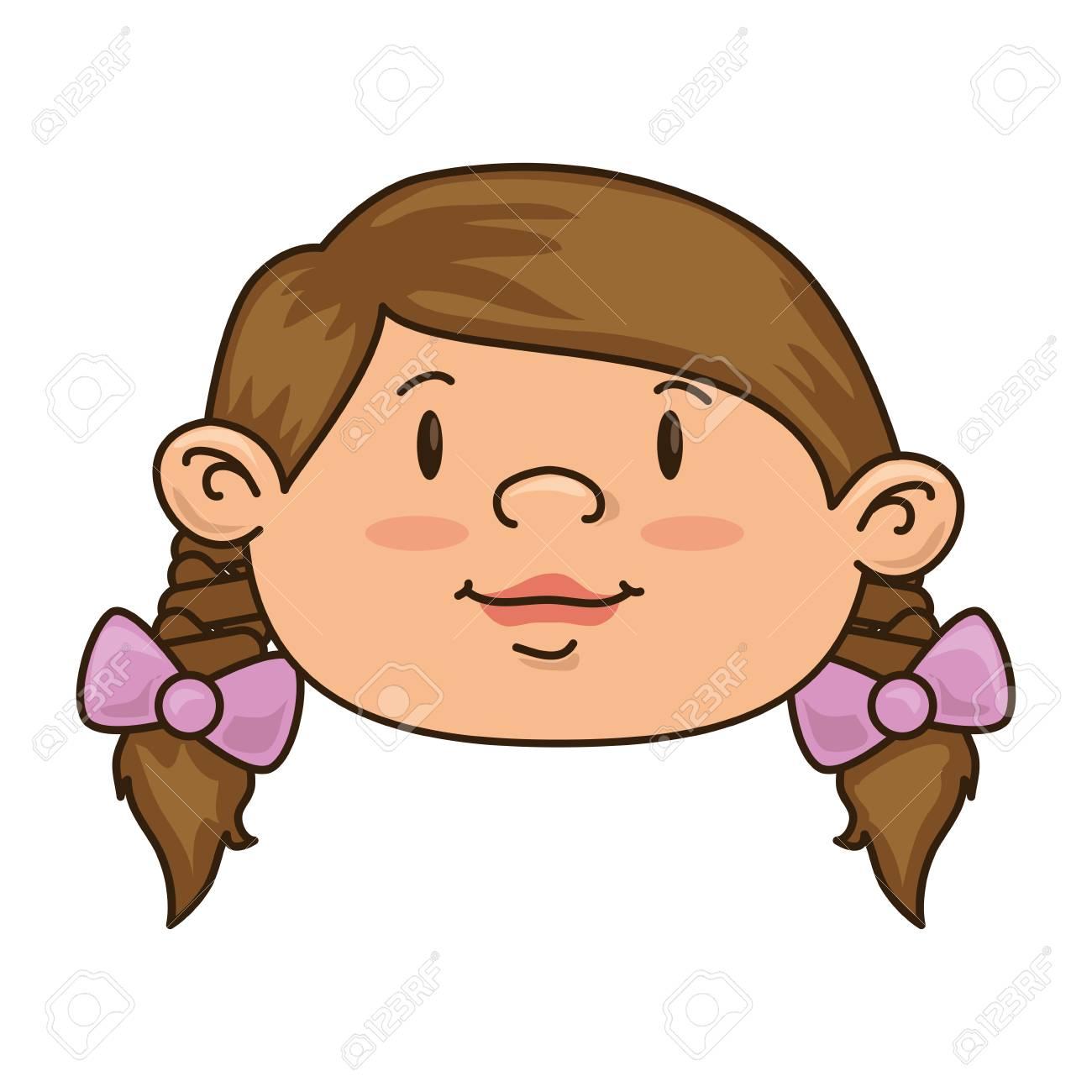 Sonriente Niña De Ilustración Feliz Del Cabrito Del Niño Del Vector