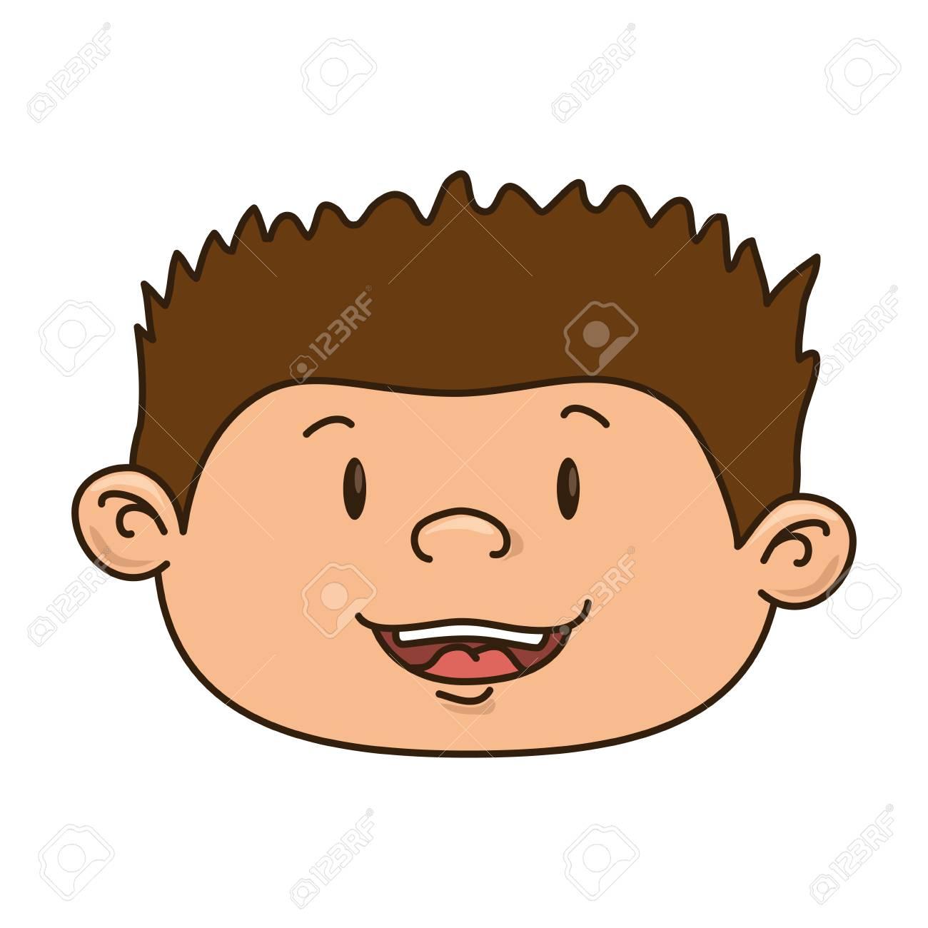 Niño Sonriente Feliz Ilustración Del Vector Del Cabrito Del Niño
