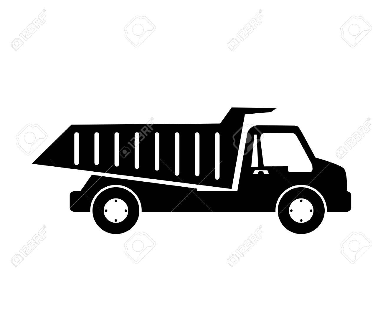 Truck Dumping Dump Construction Isolated Vector Illustration Eps 10 Stock