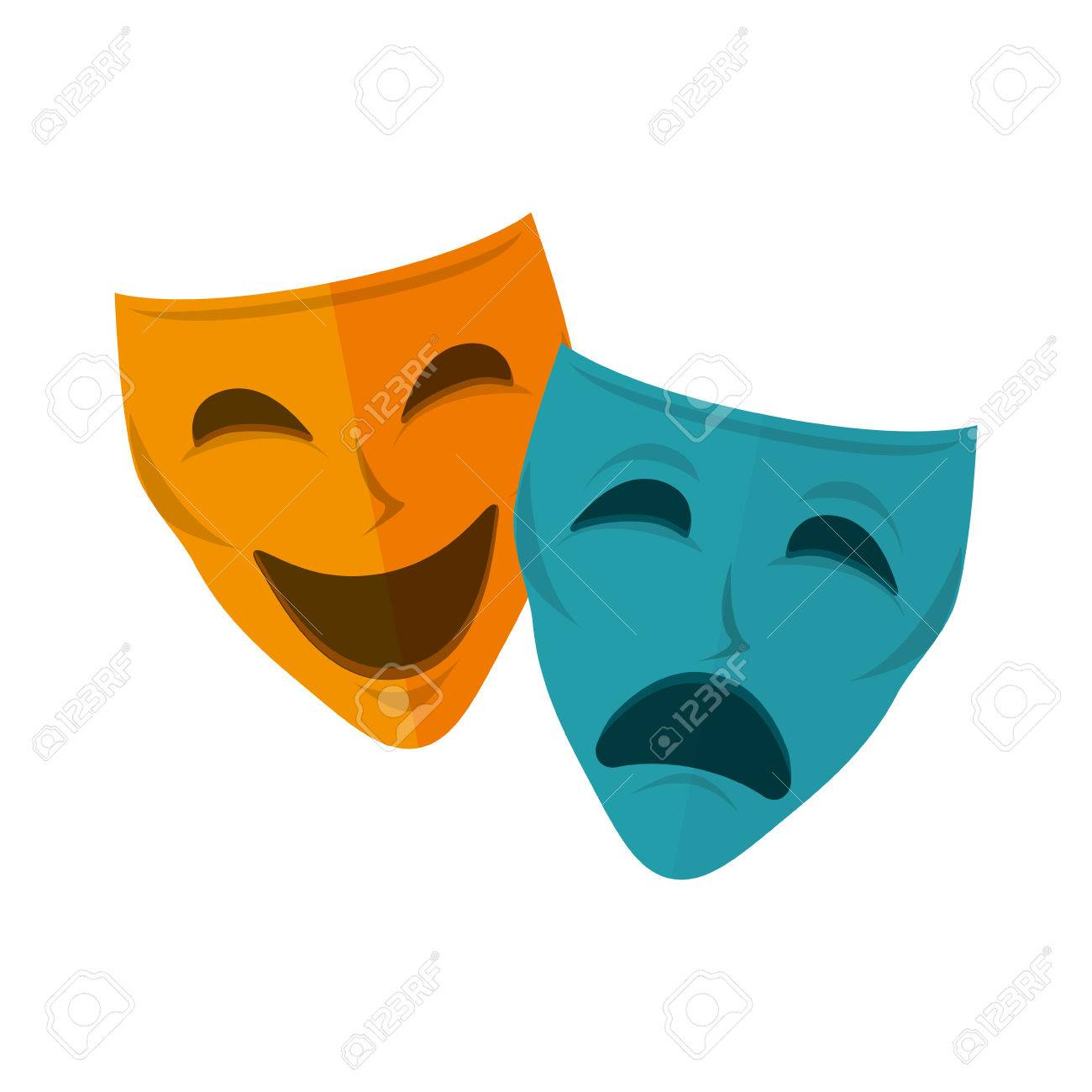 drama and comedy mask happiness and sadness faces vector rh 123rf com drama victoria drama vector