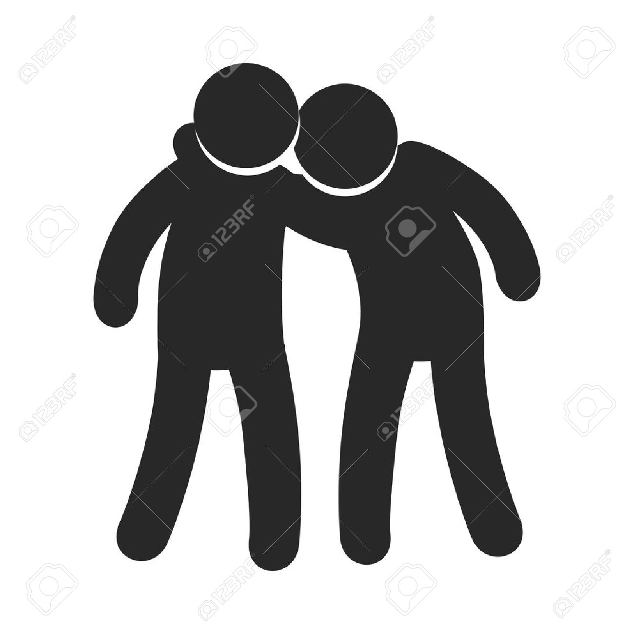 Two pictogram friends together friendship symbol vector two pictogram friends together friendship symbol vector illustration stock vector 62257378 biocorpaavc Images