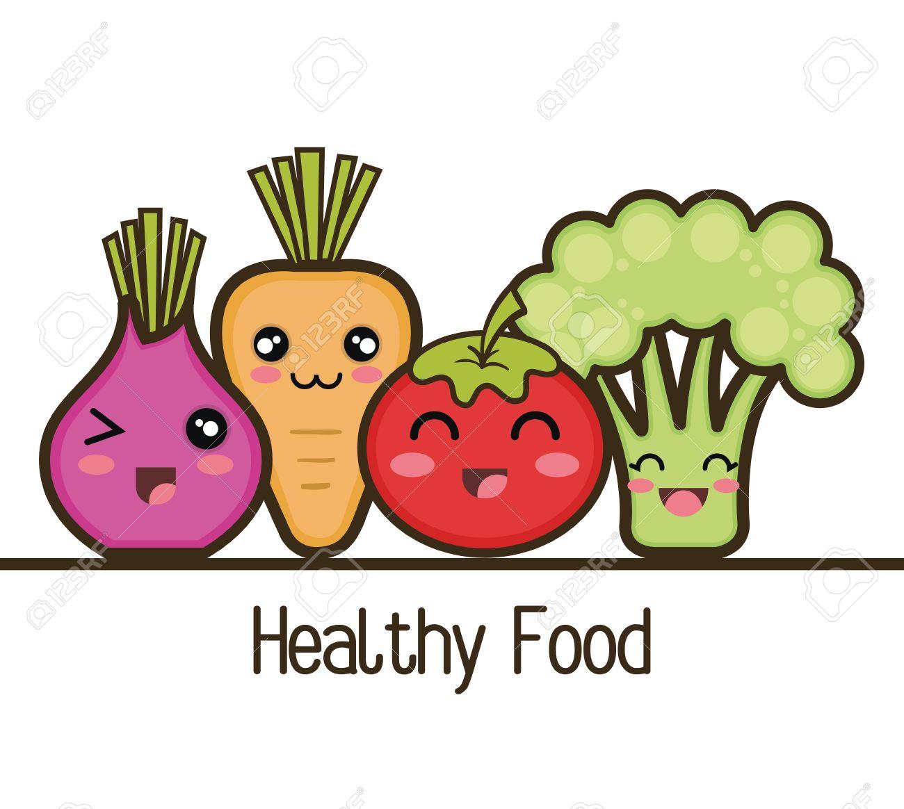 Resultado de imagen para comida saludable animada