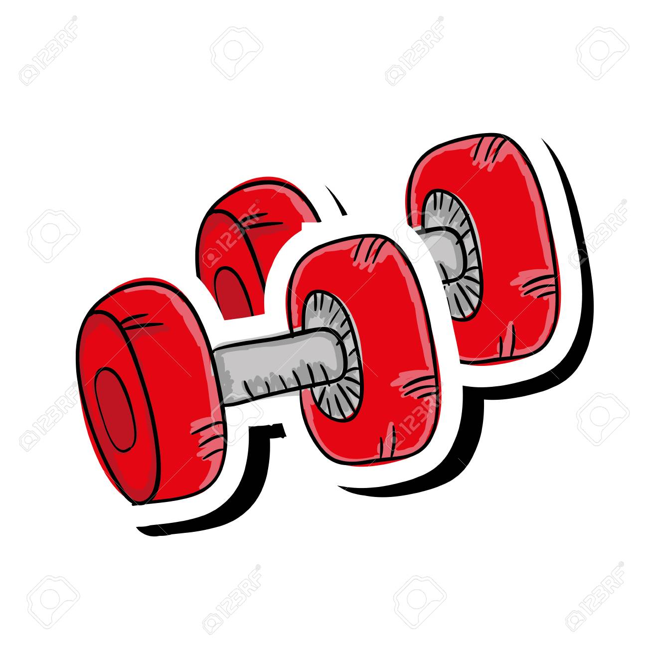 Red Dumbbell Gym Equipment Fitness Lifestyle Vector Illustration Royalty Free Cliparts Vectors And Stock Illustration Image 62576562